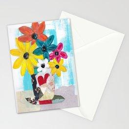 PATCHWORK VASE Stationery Cards