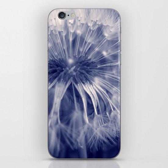 blue dandelion I iPhone Skin