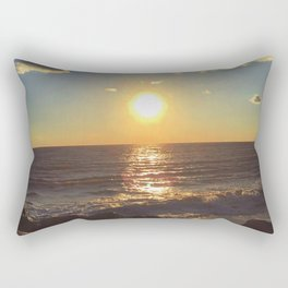 Cape May Jetty Sunset Rectangular Pillow