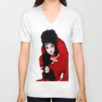 lydia martin V-neck T-shirts featuring Lydia Deetz by Ashley Sharp
