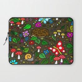 Garden Awakens Cute Cartoon Animal Scene Laptop Sleeve