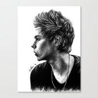 luke hemmings Canvas Prints featuring Luke  by Luna Perri
