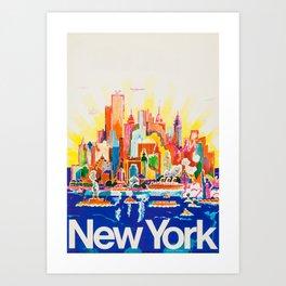 Vintage New York  Art Print