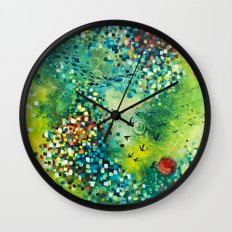 Dimensions of Flow Wall Clock