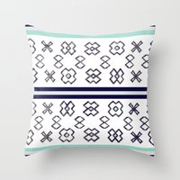 infinity Throw Pillows featuring Infinity by Bunhugger Design