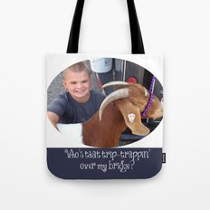 Kjwelte Custom Order - Who's That Trip-Trappin' Over My Bridge - 1 Tote Bag