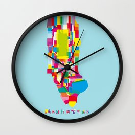 Manhattan Fragments Wall Clock