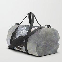 Yin Yang Owl and Raven Duffle Bag