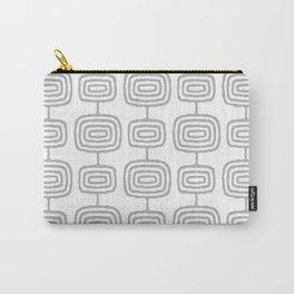Mid Century Modern Atomic Rings Pattern Gray 3 Carry-All Pouch