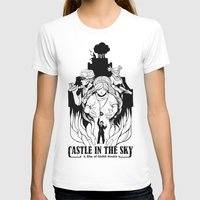 castle in the sky T-shirts featuring Castle in The Sky - 1 by LinhBR