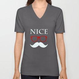 Nice, happy, fanny Unisex V-Neck