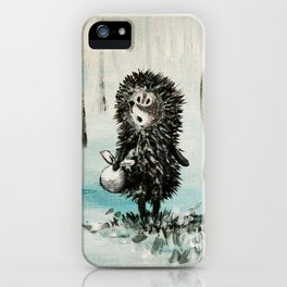 Hedgehog in the fog iPhone Case