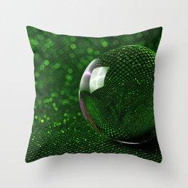 3D Crystal Glass Ball Sphere Ultra HD Throw Pillow