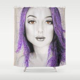 Her Purple Shower Curtain