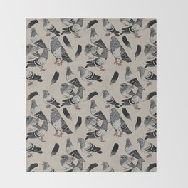 Pigeon Pattern Throw Blanket