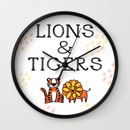 Lions & Tigers Wall Clock