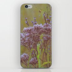Summer Botanical Meadow Marsh with Joe Pye Weed and Blue Vervain Wildflowers iPhone & iPod Skin