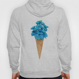 Blue Chrysanthemum in Ice Cream Cone Hoody