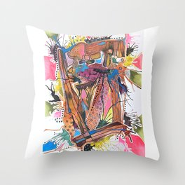 Abstract Explorations 6 Throw Pillow