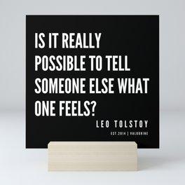 12  | Leo Tolstoy Quotes | 190608 Mini Art Print