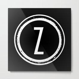 Letter Z Monogram Metal Print