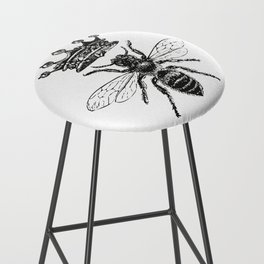 Queen Bee | Black and White Bar Stool