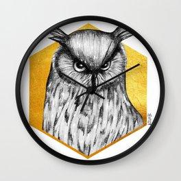 Totem - Eagle Owl Wall Clock