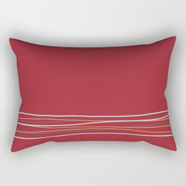 Multi Colored Scribble Line Design Bottom V2 Rustoleum 2021 Color of the Year Satin Paprika & Accent Rectangular Pillow