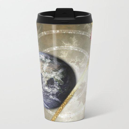 Cosmic Four of Wands Metal Travel Mug