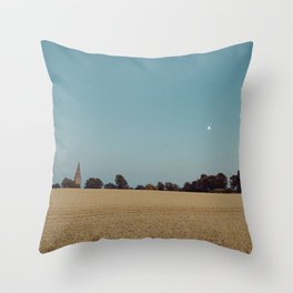 The Moon and the Church Throw Pillow