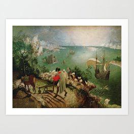 Pieter Bruegel the Elder's Landscape with the Fall of Icarus Art Print