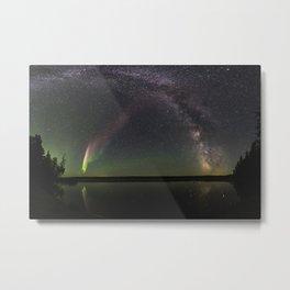 Milky Way and Steve Metal Print