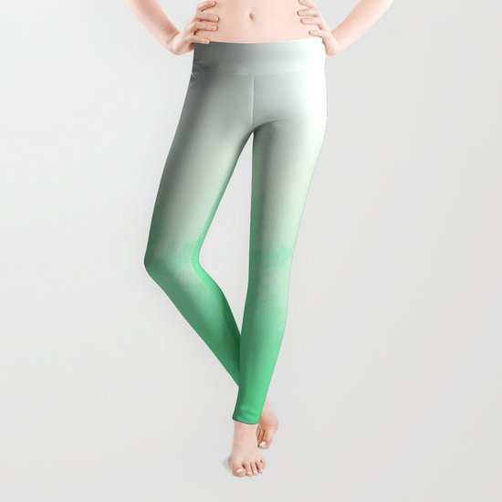 Out of focus - cool green Leggings
