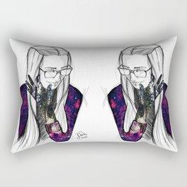 Girl Universe Rectangular Pillow