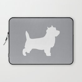 Cairn Terrier dog breed grey and white dog pattern pet dog lover minimal Laptop Sleeve