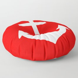Anchor (White & Red) Floor Pillow