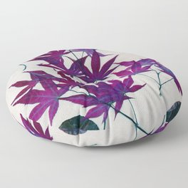 purple leaves Floor Pillow