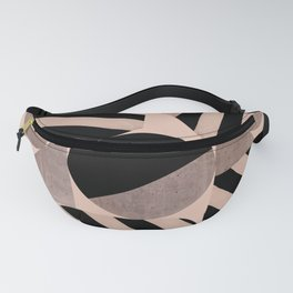 Abstraction_Geometric_SHAPES_pink Fanny Pack