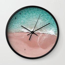 Pink Vacation Wall Clock
