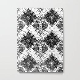 Knives Pattern Metal Print