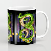 dragon ball Mugs featuring Dragon by TxzDesign