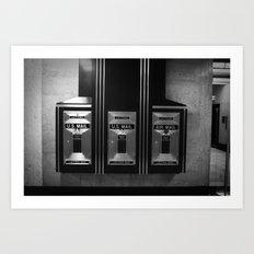 Mailboxes Black and White Original Photo Art Print