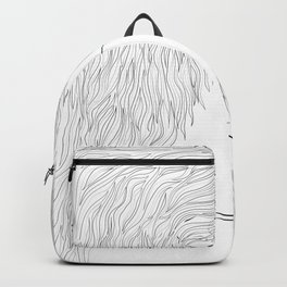 Woman Hairstyle 03 Line Art Backpack