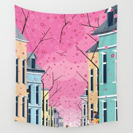Aldstadt, Bonn ft. Cherry Blossom Wall Tapestry