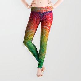 Rainbow Galaxy Melt Leggings