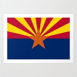 Arizona: Arizona State Flag Art Print