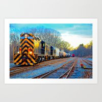 Boosted Train Art Print
