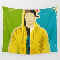 jesse pinkman Wall Tapestries featuring Pinkman by Danny Haas