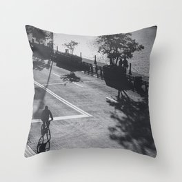 Street BW Throw Pillow