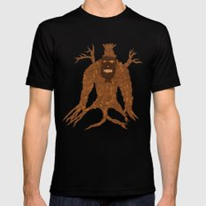 Tree Stitch Monster Black Mens Fitted Tee MEDIUM